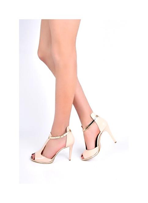 Sapin İnce Topuklu Ayakkabı Bej
